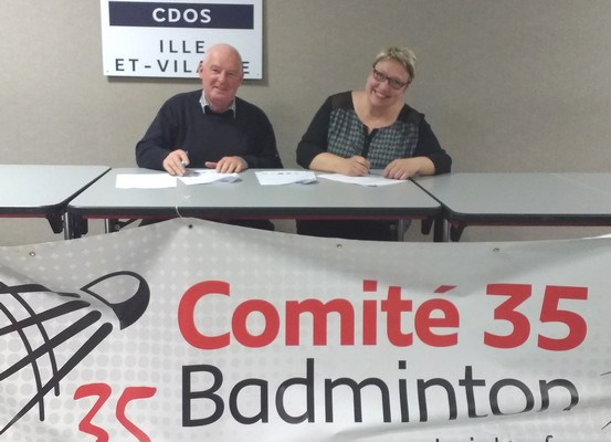 35 Rennes Signature Convention Ligue Codep 35 Assises du Badminton